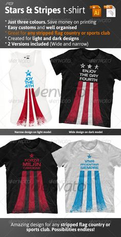 Stars and #stripes t-shirt - #Events #T-Shirts Download here: https://graphicriver.net/item/stars-and-stripes-tshirt/2237330?ref=alena994
