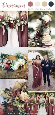 cinnamon rose and blue summer and fall wedding colors for 2019 colors summer Top 10 Wedding Color Trends We Expect to See In 2019 & 2020 (parte-two) Spring Wedding Colors, Wedding Summer, Autumn Wedding, October Wedding Colors, Fall Wedding Bridesmaids, Party Summer, Wedding Ideas For Fall 2019, Summer Fall, Fall Wedding Inspiration