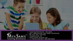 Looking for an English or maths tutor in Richmond? Tutoring Richmond- MrsSam math and english tutoring programs help your child to achieve success in a fun and more effective way. Learn more about Richmond tutoring today!