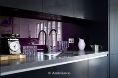 the purple adds a very luxurious touch