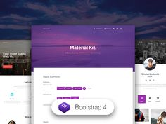 Start Your Development With A Badass Bootstrap 4 UI Kit inspired by Material Design. Google Material Design, React Native, Progress Bar, Browser Support, Header Image, Screwed Up, Ui Kit, Ui Design, Typography