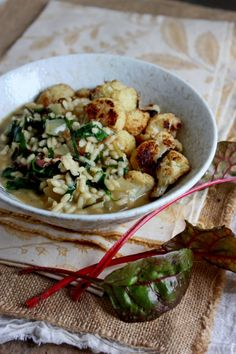 Chard risotto with roasted cauliflower | In Vegetables We trust