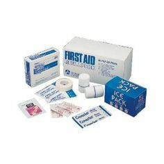 First Aid Kit Refill Packs 94 Pieces by Lagasse. $26.06. Contains ten most frequently used products (94 pieces):. knuckle bandages, Sterile gauze, Burn ointment. Sting relief wipes, Ice pack. Adhesive bandages, Nonstick pads.