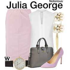 Inspired by Piper Perabo as Julia George on Notorious.