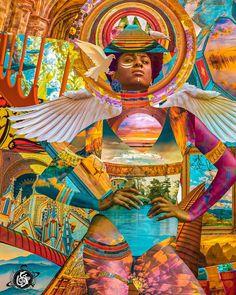 Futuristic Art, Afro Art, Arte Popular, Dope Art, Photoshop, Sci Fi Art, African Art, Black Art, Female Art