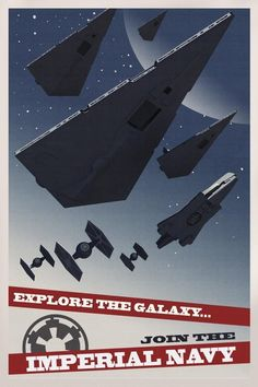 Star Wars Rebels Imperial Propaganda Poster 6 - Star Destroyers and TIE Fighters