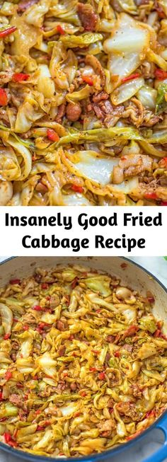 Cabbage And Bacon, Fried Cabbage, Cabbage Recipes, Cajun Recipes, Vegetable Recipes, Cooking Recipes, Healthy Recipes, Low Carb Recipe Books, Summer Salad Recipes