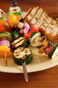 Vegetable Kabobs with Mustard Sauce is one of our favorite grill recipes   achieve-life