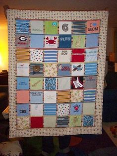 quilt from baby clothes