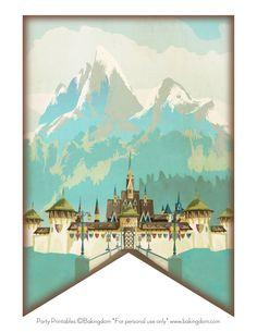 Disney Frozen-inspired Birthday Cake and Printable Banner