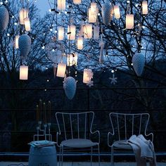 Group Lanterns - 60 Beautifully Festive Ways to Decorate Your Porch for Christmas