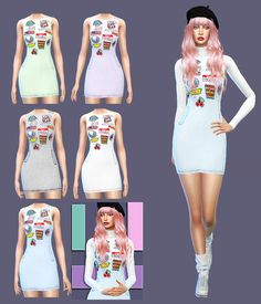 Dress and TurtleNeck Crop Top Accessory at Gisheld • Sims 4 Updates