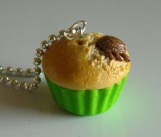 Halloween Cupcake Charm Necklace With A by CobaltMoonJewelry, $13.95