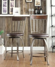 Love this Gray & Brown Zachariah Chair - Set of Two on #zulily! #zulilyfinds