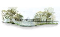 Take a look at this intersting landscape tree section - what an ingenious type Landscape Architecture Perspective, Concept Models Architecture, Landscape Architecture Portfolio, Architecture Presentation Board, Architecture Graphics, Architecture Drawings, Landscape Design, Architecture Diagrams, Presentation Boards