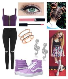 """""""Day Out with Mahogany Lox ✌"""" by annamendes07 ❤ liked on Polyvore featuring Vans, WearAll, Topshop, Christian Dior, EF Collection and Journee Collection"""