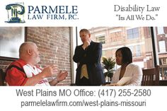 http://parmelelawfirm.com/west-plains-missouri - A deep understanding of each client's social security disability case is essential for success. A free consultation at our West Plains MO office is the first step. Call (417) 255-2580 or visit Parmele Law Firm 1207 Porter Wagoner Boulevard, West Plains, MO 65775 to schedule.