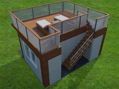 Here are a Comfortable Backyard Home Office Design, A Garden Office Design Ideas from Jorge Fontan Architect. This Backyard Office has four sliding glass doors at the front and two sets of sliding glass windows on the sides that open allowing the office to be part of the garden.