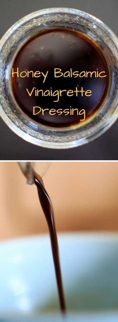 Honey Balsamic Vinaigrette – simple formula to make as much or as little as you want Honey Balsamic Vinaigrette. An easy formula for this salad dressing that you can customize to your tastebuds. Tangy, sweet, and delicious! Salad With Balsamic Dressing, Salad Dressing Recipes, Dressing For Salad, Salad Dressing Homemade, Vinagrette Dressing Recipe, Caprese Salad Dressing, Honey Dressing, Sweet Salad Dressings, Balsamic Salad Dressings