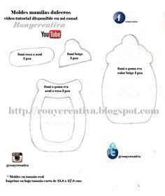 ronycreativa: Cómo hacer dulceros de MAMILA o BIBERON para Babyshower - video tutorial y moldes gratis