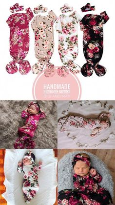4 Handmade knotted gowns sets to choose from! – Gigi and Max Twin Girls, Twin Babies, Twin Baby Clothes, Toddler Swag, Going Home Outfit, Baby Gown, Fantastic Baby, Cute Outfits For Kids, Newborn Pictures