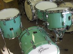 Gretsch drums in Sea Foam green. Slytherin, Drum Set Music, The Maine Band, Hex Girls, Shaggy Rogers, Gretsch Drums, Banks, Daphne Blake, Velma Dinkley