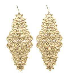 SIRRI EARRINGS GOLD $38- CALL SPLASH TO ORDER 314-721-6442