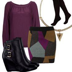 Look 20: Gold 'n Purple