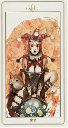 "(2014-02-28) Lunatic Tarot - The Fool: ""The Fool is a powerful card because its possibilities all start in nothingness and reach into infinity."" ~keen.com"