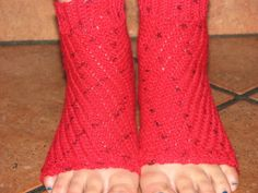 Custom order just for you in your choice of color: Encantada #Yoga Socks crocheted with lightweight, wool and nylon yarn