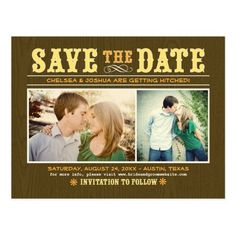 Wedding Save the Date Post Cards | Vintage Western