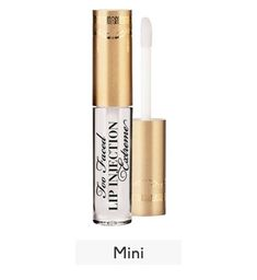 Buy Too Faced lip injection extreme travel size and Collect 4 Advantage Card Points when you spend Lip Injections, Lip Plumper, Lip Injection Extreme, Lip Moisturizer, Travel Size Products, Serum, Eyeliner, Lips, Skin Care
