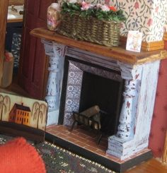 miniature fireplace
