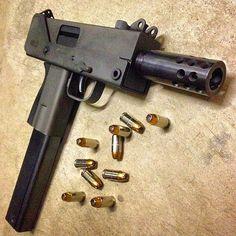 Military Weapons, Weapons Guns, Guns And Ammo, Mac 10, 9mm Pistol, Submachine Gun, Fire Powers, Custom Guns, Cannon