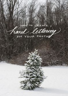 how to add hand-lettering to photos via photoshop