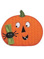 Autumn Quilt Patterns - Halloween Fun Place Mat Pattern - Applique Quilt Pattern