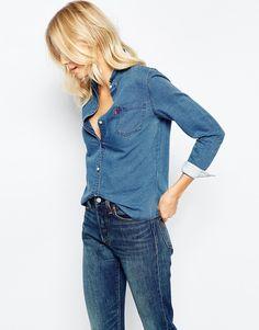 Image 1 - Levi's - Faye - Chemise en jean coupe masculine