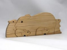 Handmade Wooden Toys, Handmade Gifts, Pig Family, Puzzle Toys, Wood Toys, Guinea Pigs, Nursery Decor, Etsy Seller, Woodworking Tools