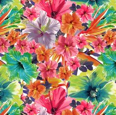 tropical florals : Flower Bloom - Lunelli Textil | www.lunelli.com.br