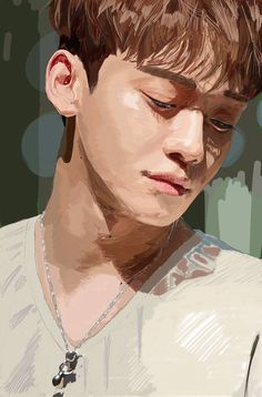 Kpop Drawings, Cute Drawings, Exo Anime, Exo Fan Art, Anatomy Sketches, Kpop Fanart, Art Studies, Cute Illustration, Chanyeol