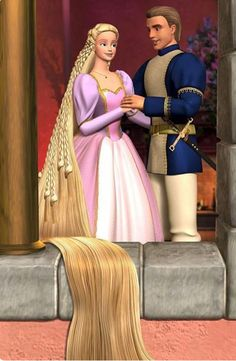Barbie as Rapunzel This was my Rapunzel. She had long hair but no freakishly long hair and she had a dragon as a friend. And she stopped a feud between two kingdoms. Seriously Barbie Rapunzel wins over Disney Rapunzel any day. Rapunzel Barbie, Rapunzel Flynn, Disney Rapunzel, Barbie Dream, Barbie Cartoon, Princess And The Pauper, Dragon Ball Z Shirt, Barbie Images, Personalized Posters