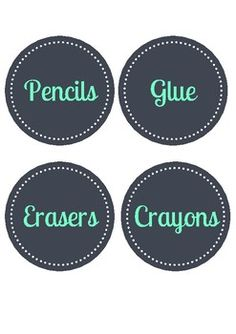 Print, laminate, and organise your classroom with these cute, grey and turquoise, stationery labels!!!