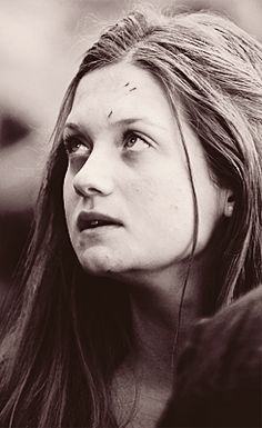 Bravery at its finest. I love Hermione so much, but I think Ginny isn't given enough credit for everything she's gone through and accomplished. Even though I love the films, I thought Ginny was definitely pushed to the side and not fleshed out like she was in the books so they could focus more on Hermione. Still love Bonnie Wright as Ginny!