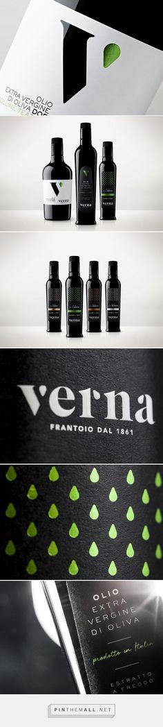 Frantoio Verna - Olive Oil Mill packaging design by Concept Store - https://www.packagingoftheworld.com/2018/04/frantoio-verna-olive-oil-mill.html