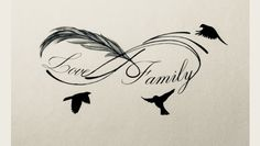 Infinity Tattoo With Feather, Tattoos Infinity, Feather Tattoos, Tribal Tattoos, Tattoos Skull, Family Name Tattoos, Dad Tattoos, Body Art Tattoos, Small Tattoos