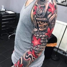 Tatouage homme Samourai Japonais sur Bras