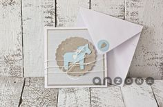scrapbooking - kartki okolicznościowe-Kartka na chrzest, urodziny Baptism Cards, Babys, Card Ideas, Greeting Cards, Handmade, Crafts, Diy, Crowns, Doors