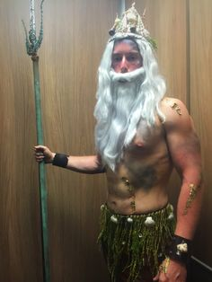 Poseidon costume #Halloween