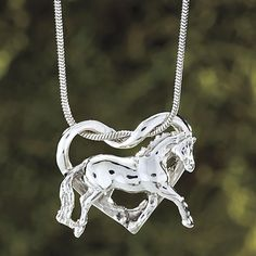 Sterling Trotting Horse Necklace - Horse Themed Gifts, Clothing, Jewelry and Accessories all for Horse Lovers