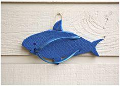 Shark Flip Flop Sculpture Wall Art - DollarStoreCrafts.com